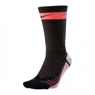 Socks  Nike Strike Light Crew Black-Hot punch