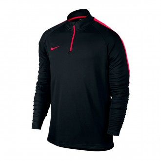Sweatshirt  Nike Dry Academy Football Drill Black-Siren red