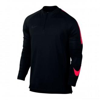 Sweatshirt  Nike Dry Squad Football Drill Top Black-Siren red-Black