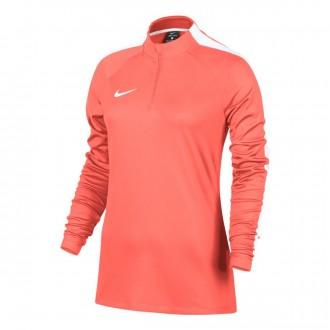 Sweatshirt  Nike Academy Football Drill Mujer Bright mango-White