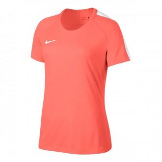 Camiseta  Nike Dry Academy Football Mujer Bright mango-White