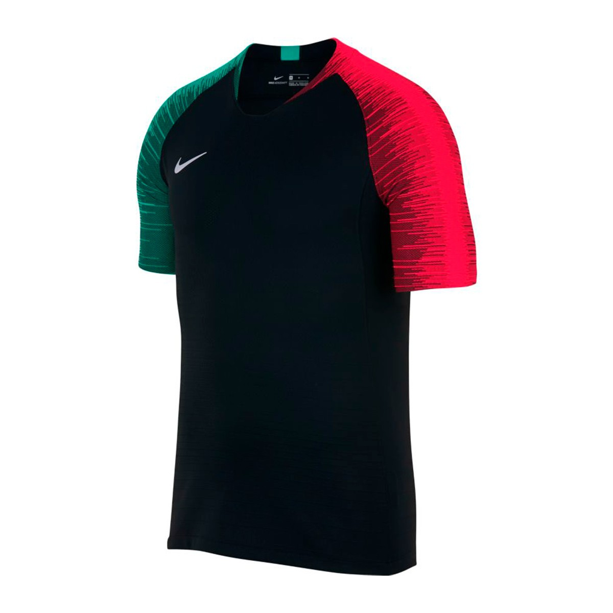 Camiseta Vaporknit Strike Black-Siren red-Kinetic green-White