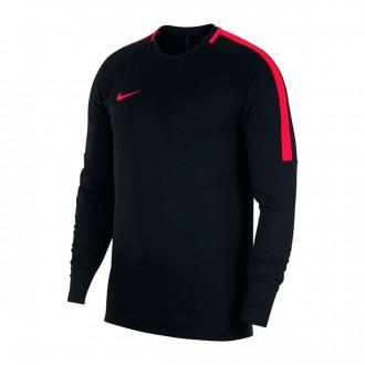 Sweatshirt  Nike Dry Academy Football Crew Black-Siren red
