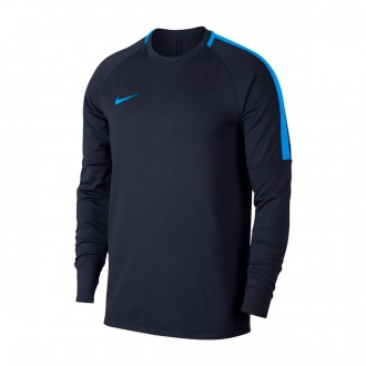 Sweatshirt  Nike Dry Academy Football Crew Obsidian-Blue hero