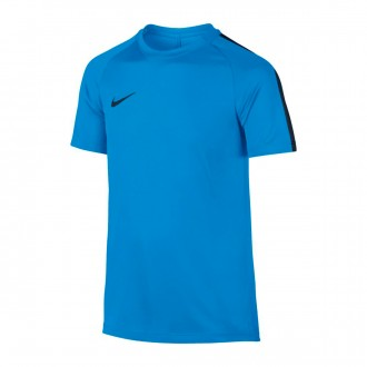 Camisola  Nike Dry Academy Football Crianças Blue hero-Obsidian