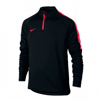 Sweatshirt  Nike Dry Academy Football Drill Crianças Black-Siren red