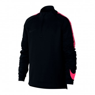 Sweatshirt  Nike Dry Squad Football Drill Crianças Black-Siren red