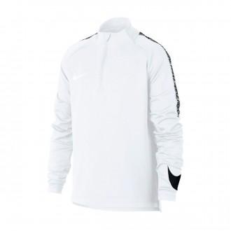 Sweatshirt  Nike Dry Squad Football Drill Top Crianças White-Black