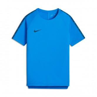 Camiseta  Nike Breathe Squad Football Niño Blue hero-Obsidian