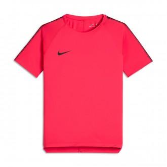Camiseta  Nike Breathe Squad Football Niño Siren red-Black