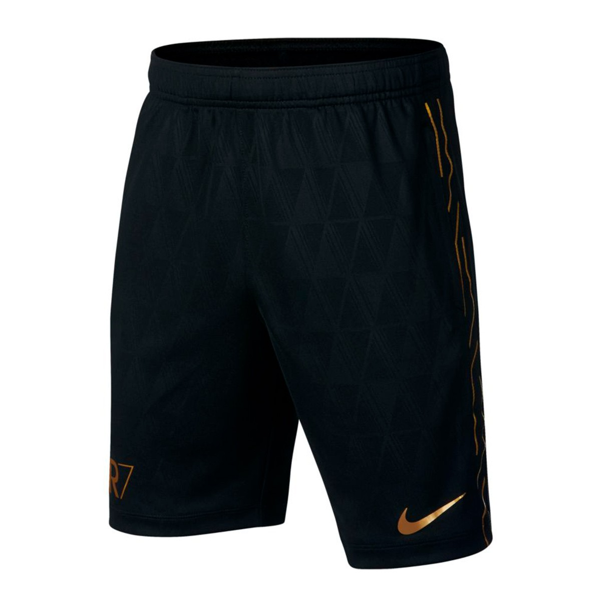 98e1bbd9f985 Shorts Nike Kids Dry Academy CR7 Black-Metallic gold - Football ...