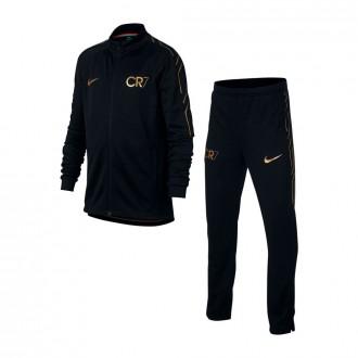 Chándal  Nike Dry Academy CR7 Niño Black-Siren red-Metallic gold