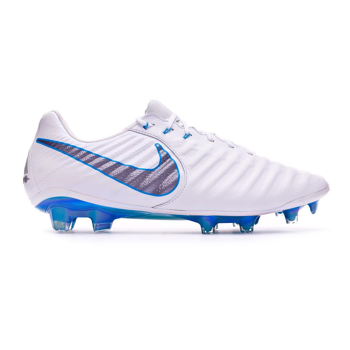9fc1125c51eb Football Boots Nike Tiempo Legend VII Elite FG White-Metallic cool grey-Blue  hero - Football store Fútbol Emotion