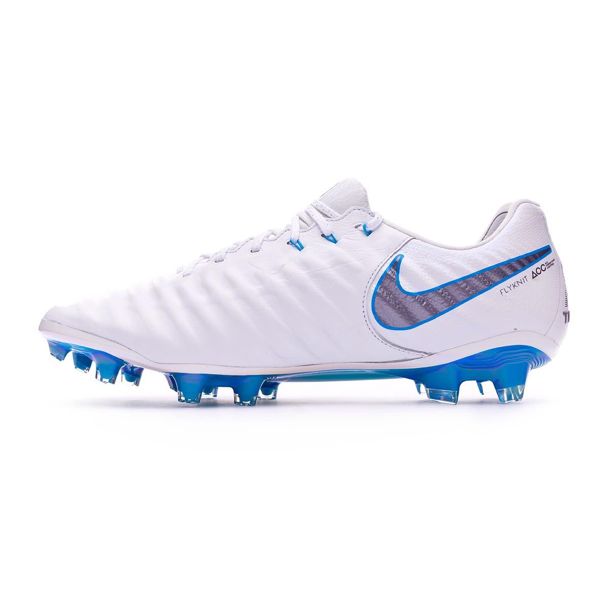 3c86326701c Football Boots Nike Tiempo Legend VII Elite FG White-Metallic cool  grey-Blue hero - Football store Fútbol Emotion