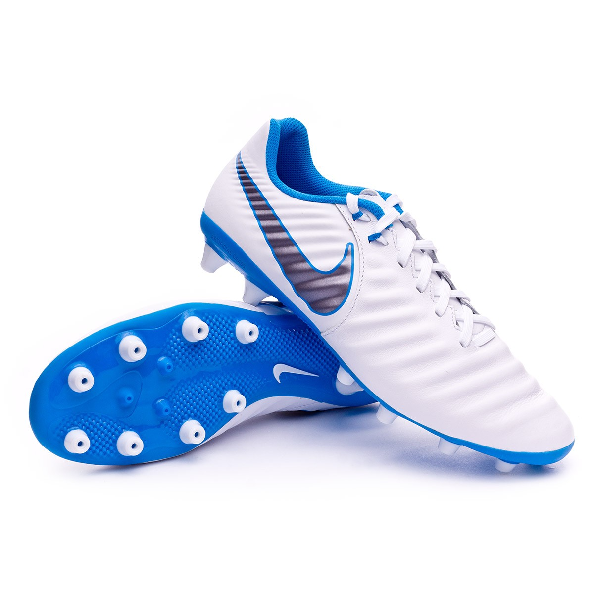 ea6c8c38af4 ... shop boot nike tiempo legend vii academy ag pro white metallic cool  grey 20352 0645d