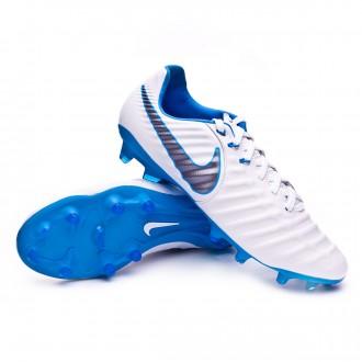 Bota  Nike Tiempo Legend VII Pro FG White-Metallic cool grey-Blue hero