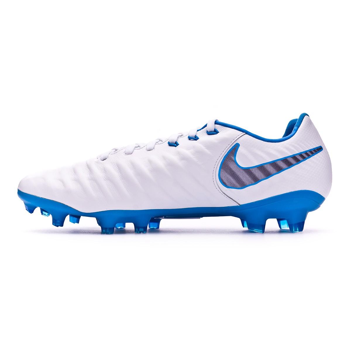 buy popular 03408 a26ca Football Boots Nike Tiempo Legend VII Pro FG White-Metallic cool grey-Blue  hero - Tienda de fútbol Fútbol Emotion