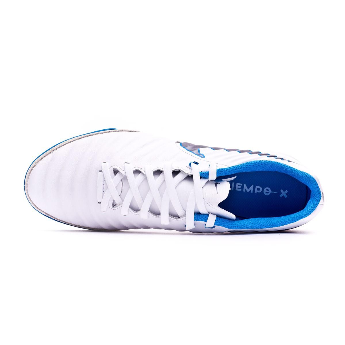 96fc2be2e68 Futsal Boot Nike Tiempo LegendX VII Academy IC White-Metallic cool grey-Blue  hero - Football store Fútbol Emotion