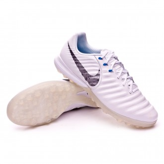 Zapatilla  Nike Tiempo LegendX VII Pro Turf White-Metallic cool grey-Blue hero