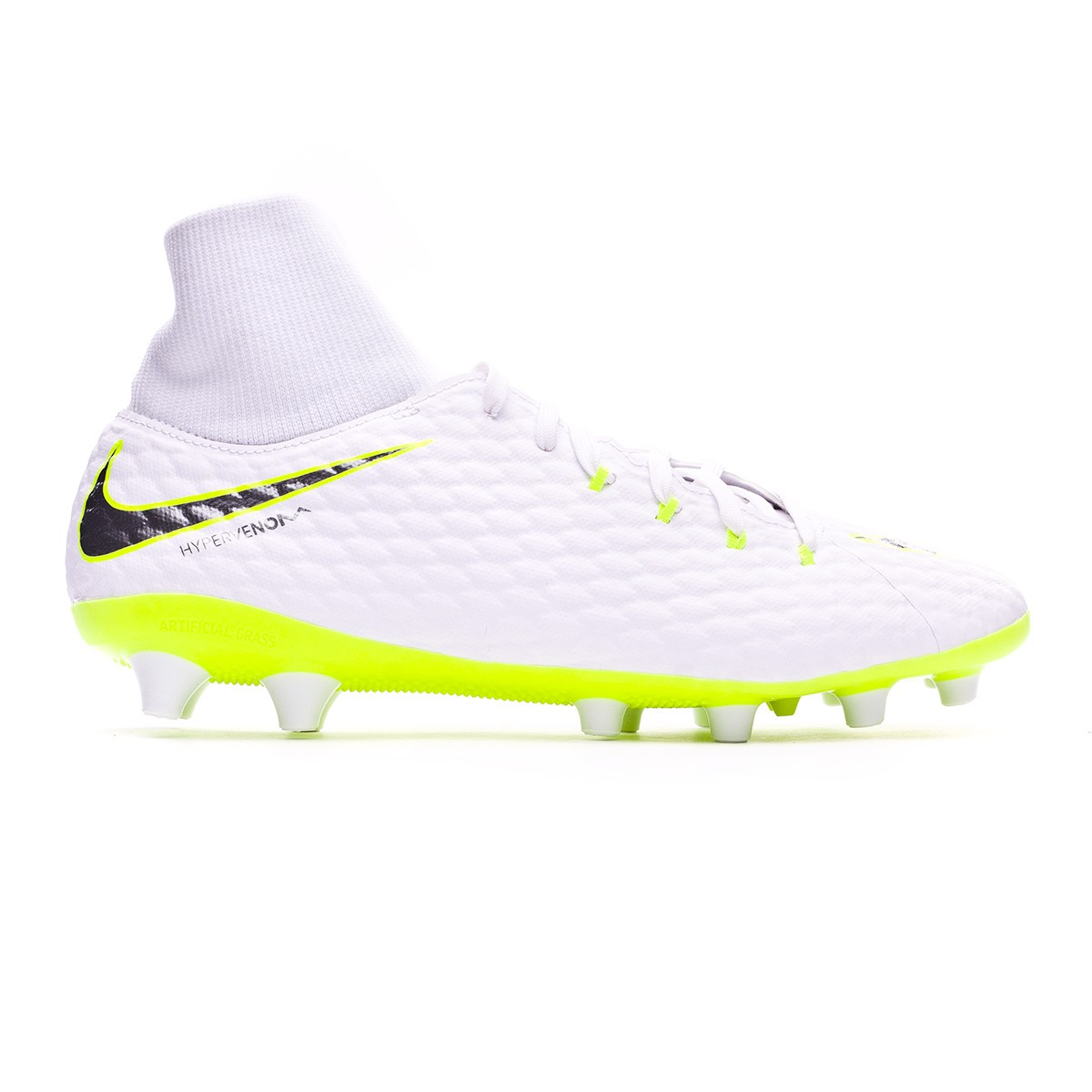 ca7aa2343c4 Football Boots Nike Hypervenom Phantom III Academy DF AG-Pro White-Metallic  cool grey-Volt-Metallic cool g - Football store Fútbol Emotion