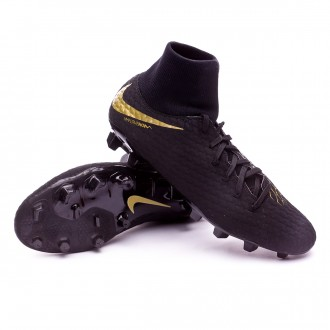 Chaussure de football  Nike Hypervenom Phantom III Academy DF FG Black-Metallic vivid gold