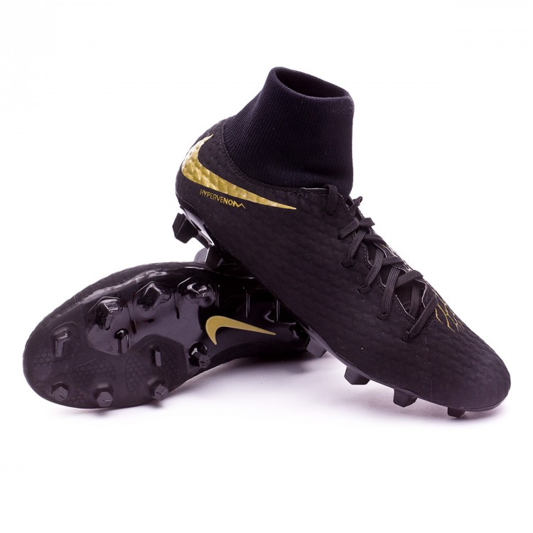 new product c9121 706b0 Football Boots Nike Hypervenom Phantom III Academy DF FG Black ...