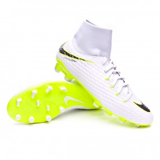 Bota  Nike Hypervenom Phantom III Academy DF FG White-Metallic cool grey-Volt-Metallic cool g