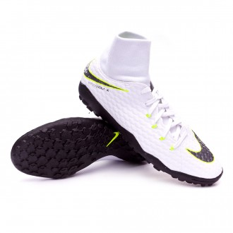 Zapatilla  Nike Hypervenom PhantomX III Academy DF Turf White-Metallic cool grey-Volt-Metallic cool g
