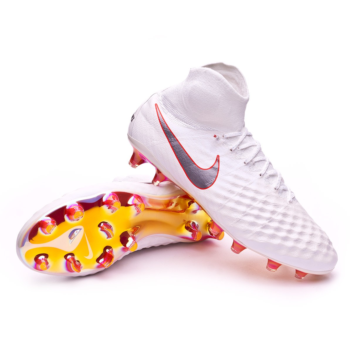 fd157c80d Football Boots Nike Magista Obra II Elite DF FG White-Metallic cool ...