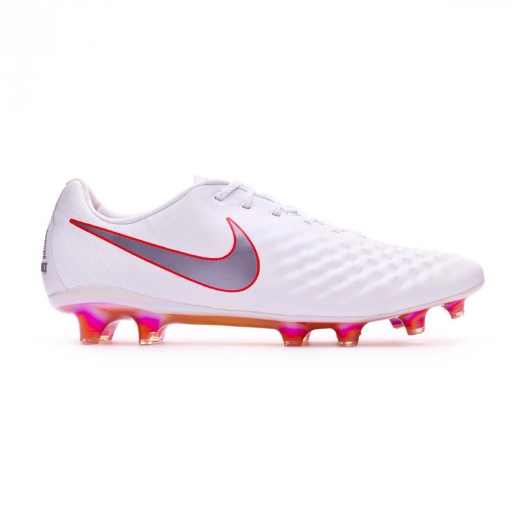 Químico medianoche Pence  Football Boots Nike Magista Obra II Elite FG White-Metallic cool ...