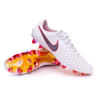 Senado Ardiente católico  Football Boots Nike Magista Obra II Elite FG White-Metallic cool grey-Light  crimson - Football store Fútbol Emotion