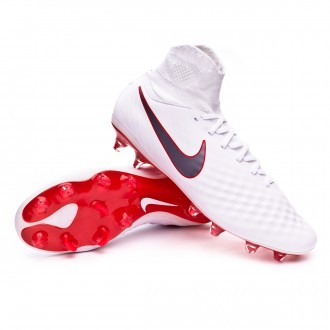 Zapatos de fútbol  Nike Magista Obra II Pro DF FG White-Metallic cool grey-Light crimson