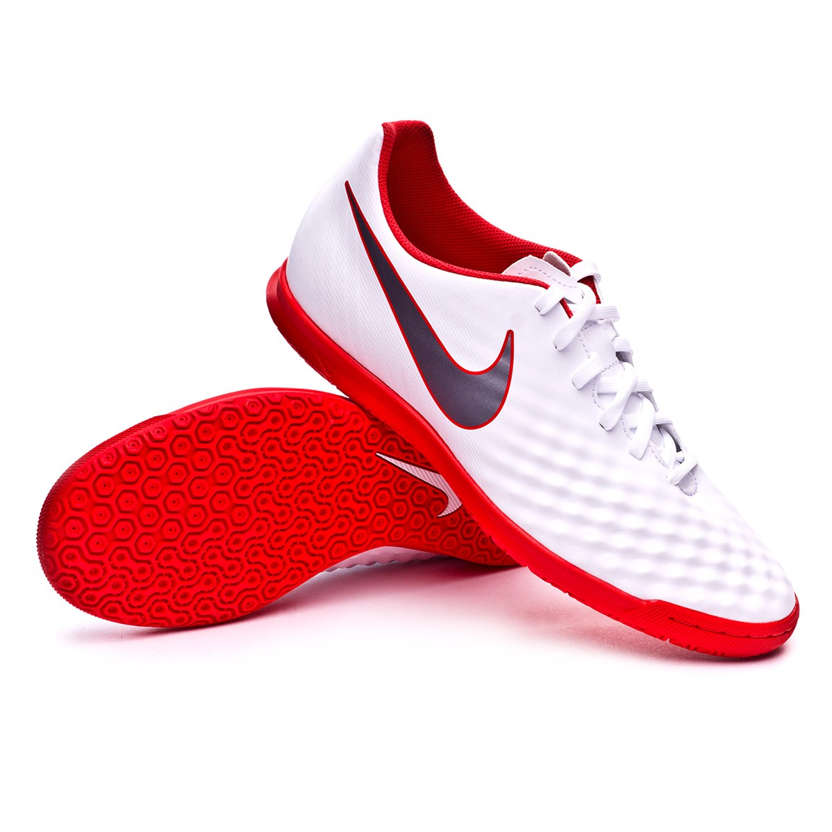 e7c64b2a8ca57 Futsal Boot Nike Magista ObraX II Club IC White-Metallic cool grey ...