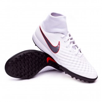 Zapatilla  Nike Magista ObraX II Academy DF Turf White-Metallic cool grey-Light crimson