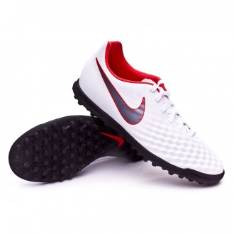 Tenis  Nike Magista ObraX II Club Turf White-Metallic cool grey-Light crimson
