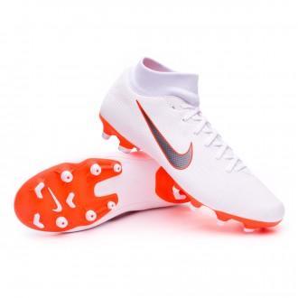 Chaussure de football  Nike Mercurial Superfly VI Academy MG White-Metallic cool grey-Total orange