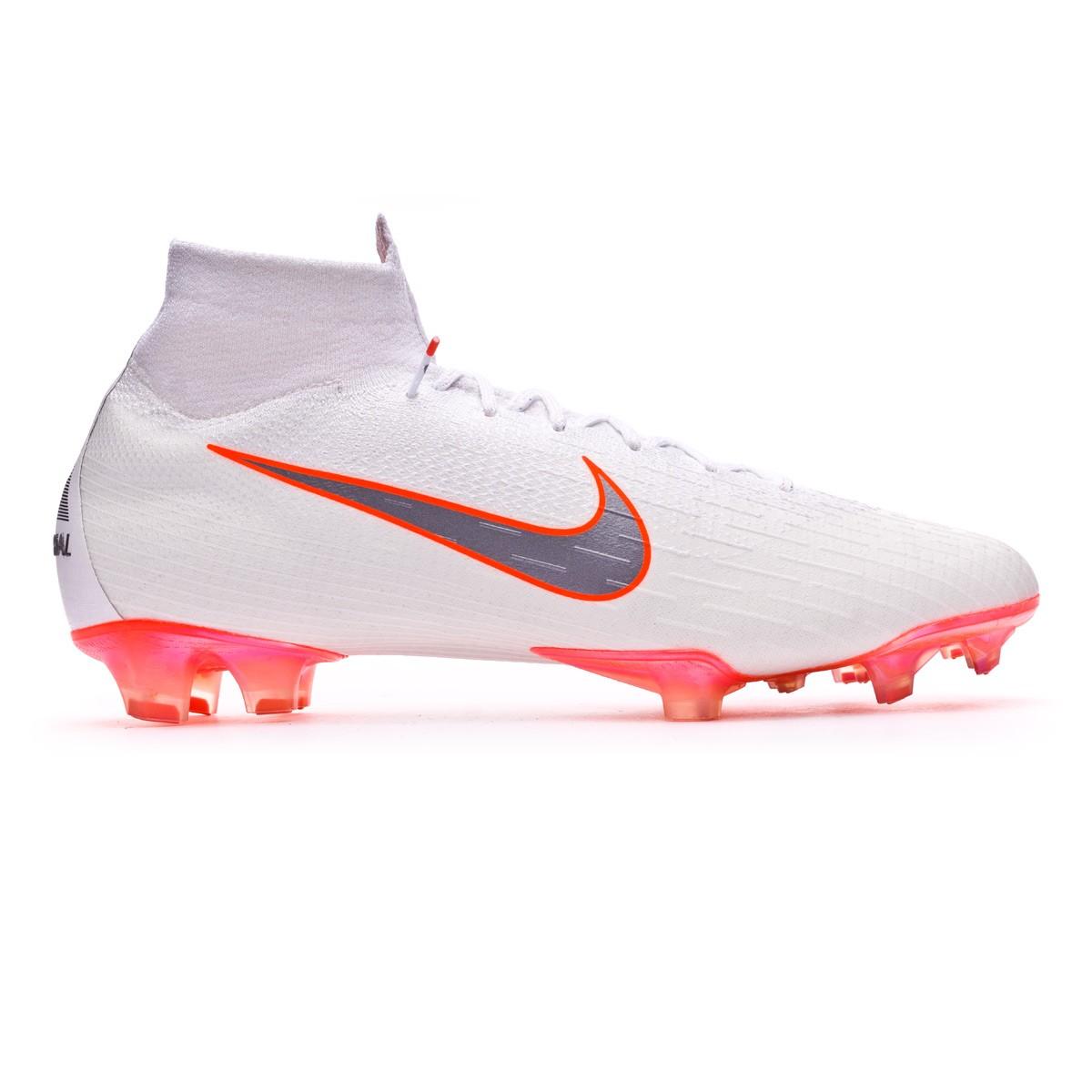 2832c1b6b366 Boot Nike Mercurial Superfly VI Elite FG White-Metallic cool grey-Total  orange - Leaked soccer