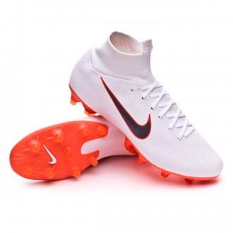 Chaussure de football  Nike Mercurial Superfly VI Pro AG-Pro White-Metallic cool grey-Total orange