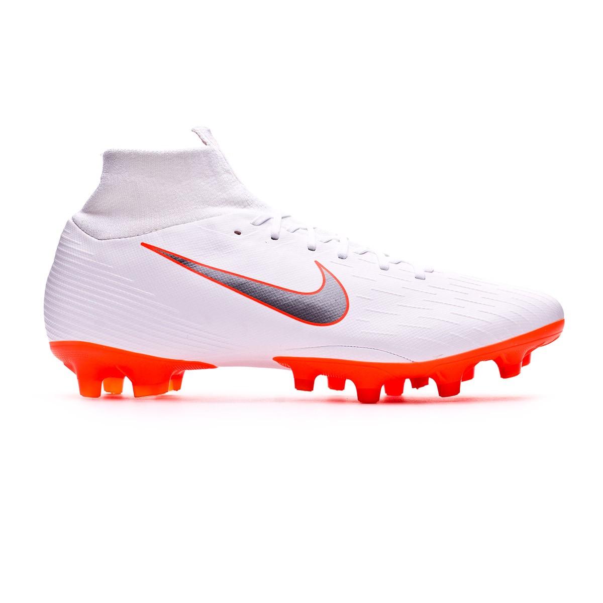 246af53cfa5 Football Boots Nike Mercurial Superfly VI Pro AG-Pro White-Metallic cool  grey-Total orange - Tienda de fútbol Fútbol Emotion