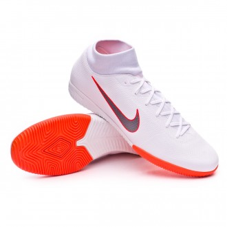 Zapatilla  Nike Mercurial SuperflyX VI Academy IC White-Metallic cool grey-Total orange