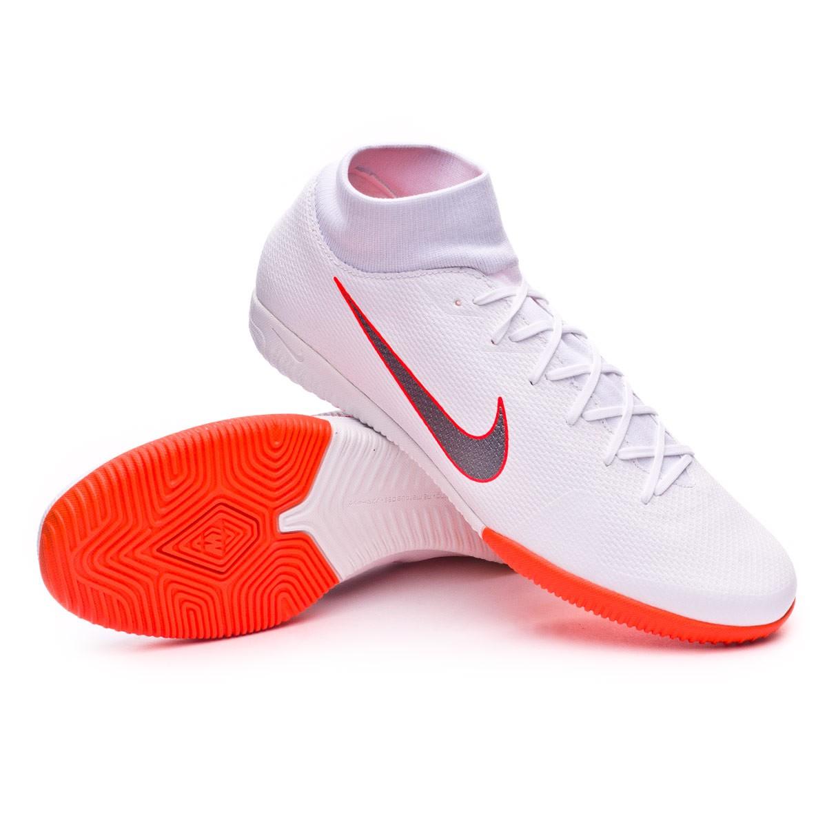 1bb6df7d2c28 Futsal Boot Nike Mercurial SuperflyX VI Academy IC White-Metallic ...