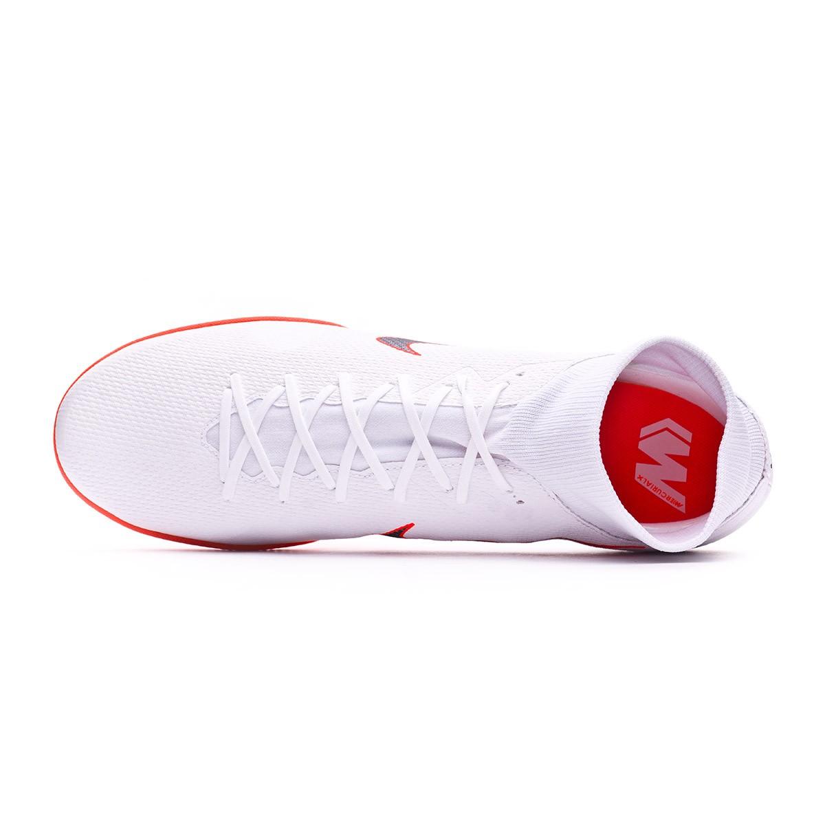 9a1f18aeebc5 Futsal Boot Nike Mercurial SuperflyX VI Academy IC White-Metallic cool grey-Total  orange - Tienda de fútbol Fútbol Emotion