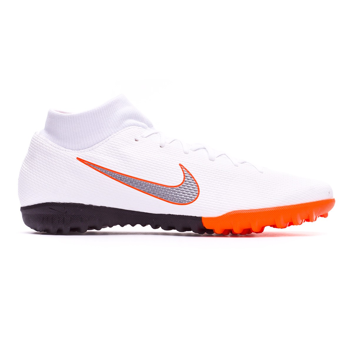 d2e440b02fd1 Football Boot Nike Mercurial SuperflyX VI Academy Turf White-Metallic cool  grey-Total orange - Tienda de fútbol Fútbol Emotion