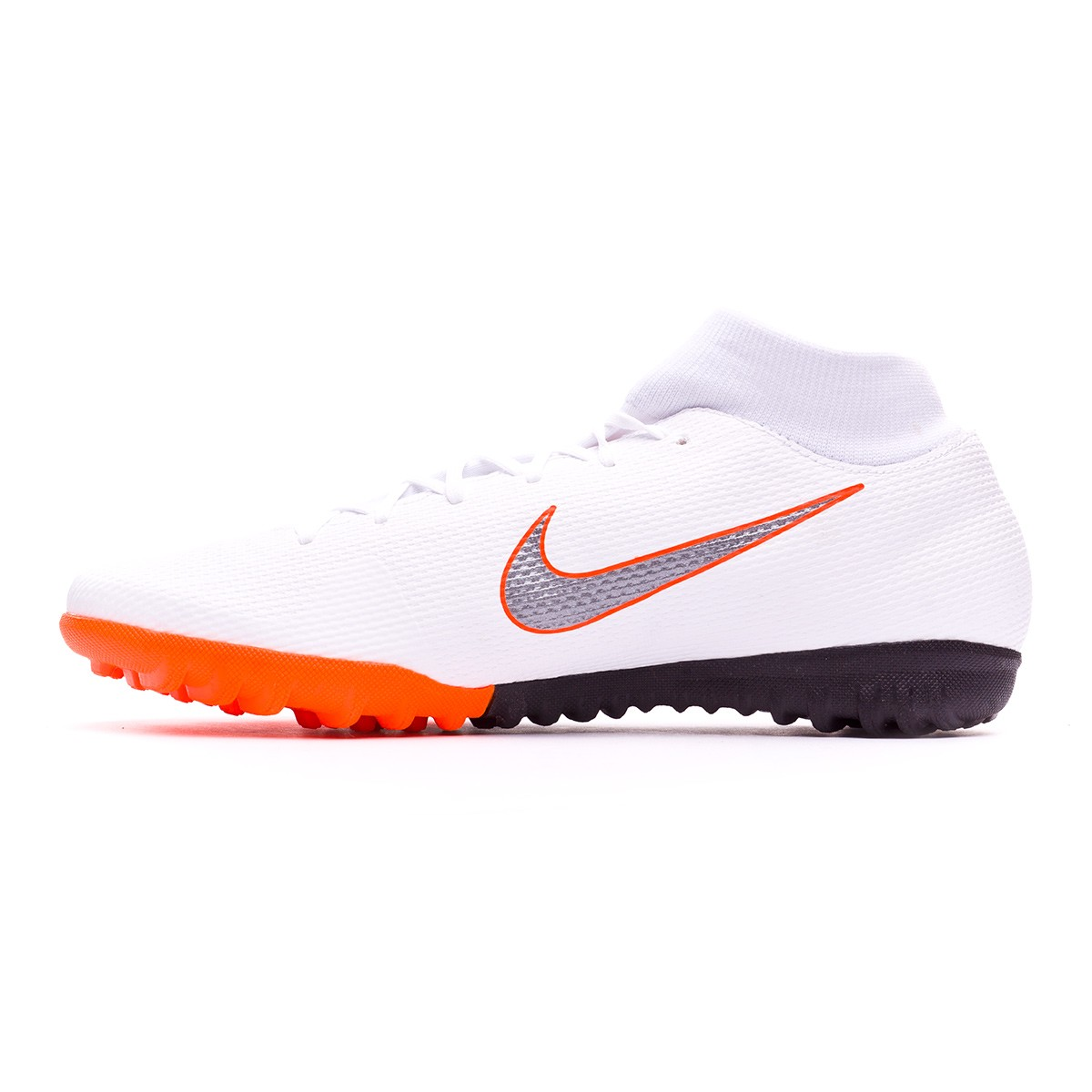 1693802bf5 Tenis Nike Mercurial SuperflyX VI Academy Turf White-Metallic cool  grey-Total orange - Tienda de fútbol Fútbol Emotion