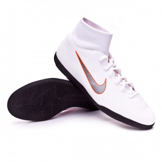 Zapatilla  Nike Mercurial SuperflyX VI Club IC White-Metallic cool grey-Total orange