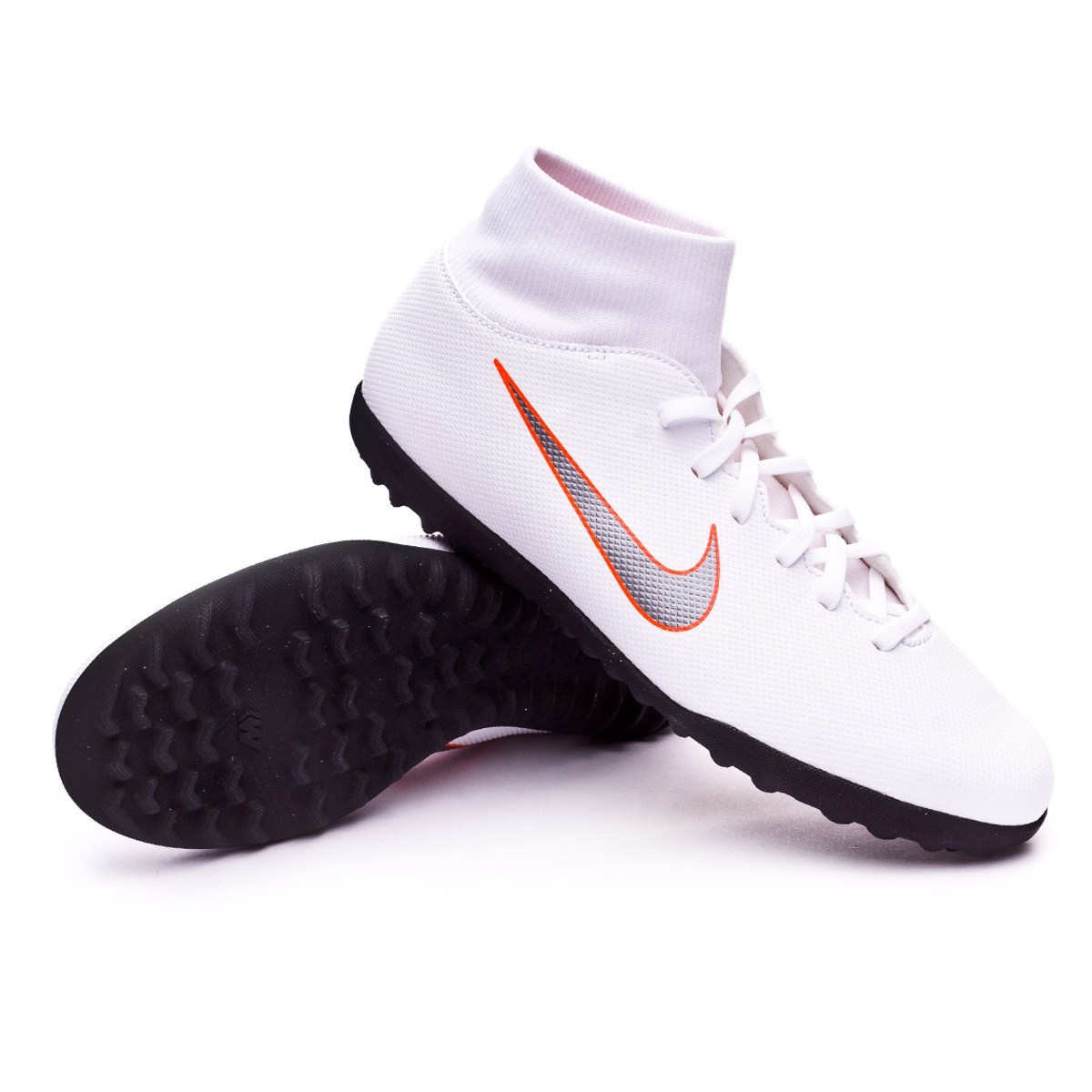 edf7092fb3df Football Boot Nike Mercurial SuperflyX VI Club Turf White-Metallic ...
