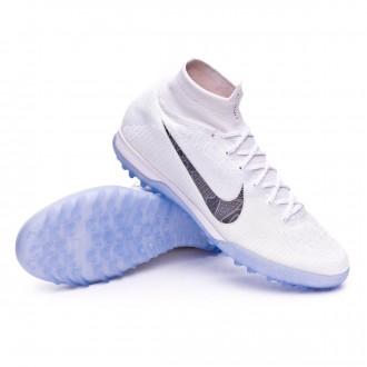 Chaussure de football  Nike Mercurial SuperflyX VI Elite Turf White-Metallic cool grey