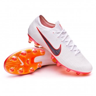 Mercurial Vapor XII Elite AG-Pro White-Metallic cool grey-Total orange