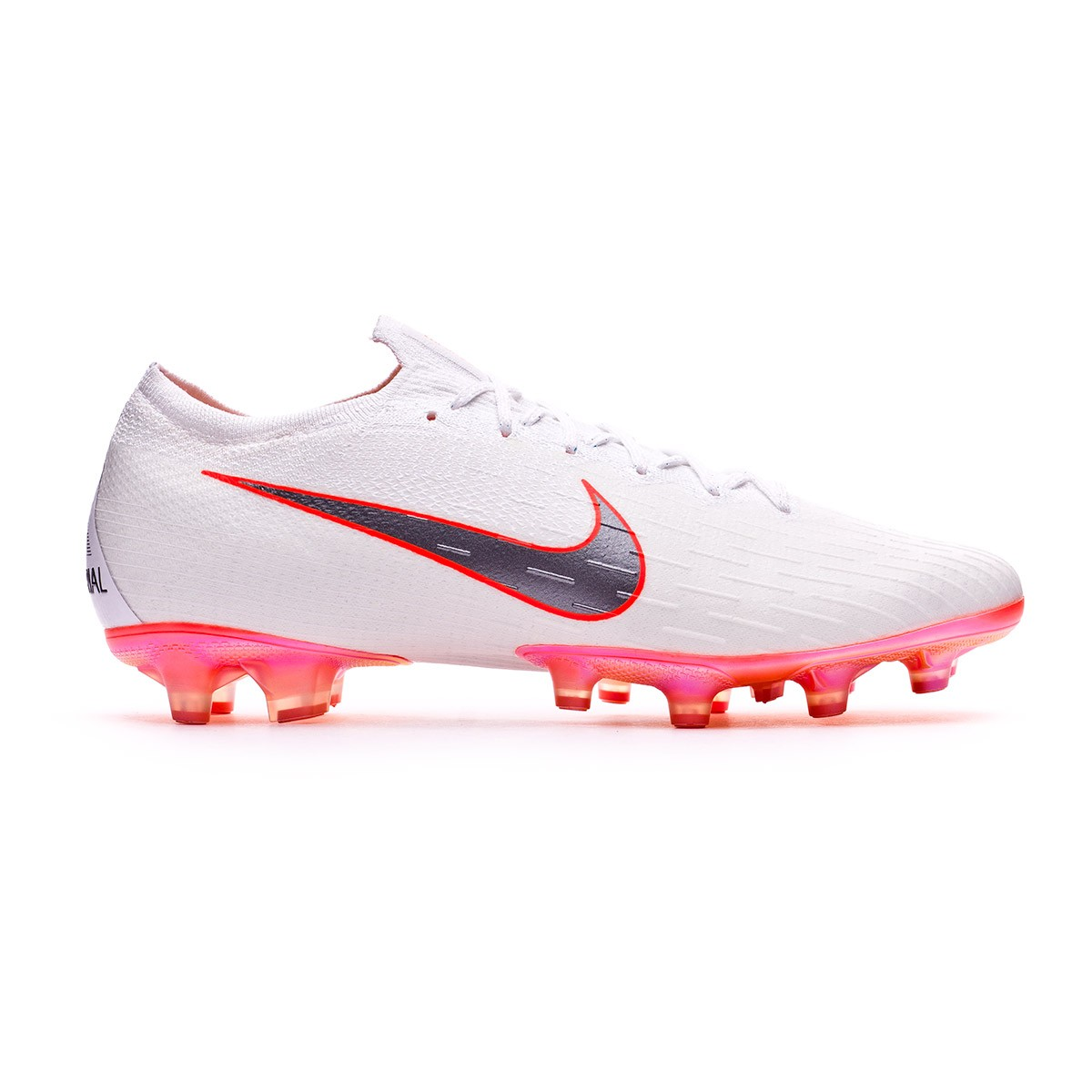Boot Nike Mercurial Vapor XII Elite AG-Pro White-Metallic cool grey-Total  orange - Football store Fútbol Emotion 825c9c2a5a906
