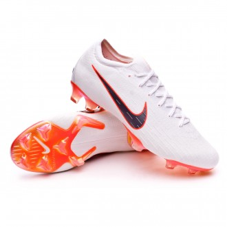Mercurial Vapor XII Elite FG White-Metallic cool grey-Total orange